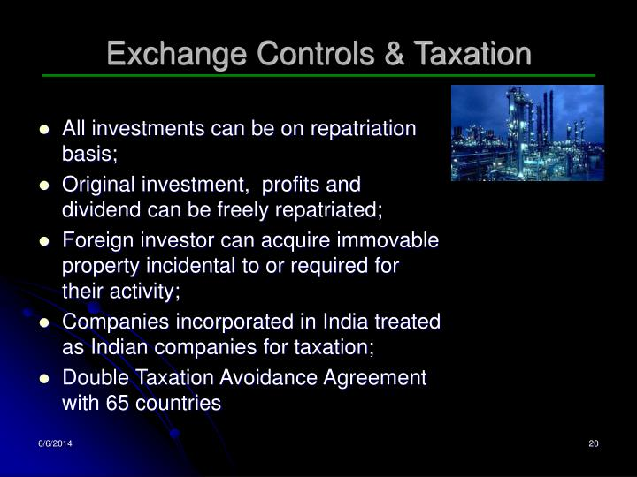 Exchange Controls & Taxation