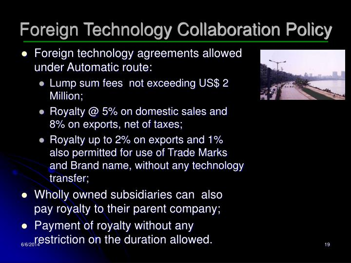Foreign Technology Collaboration Policy