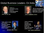 global business leaders on india