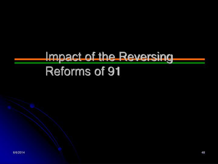 Impact of the Reversing