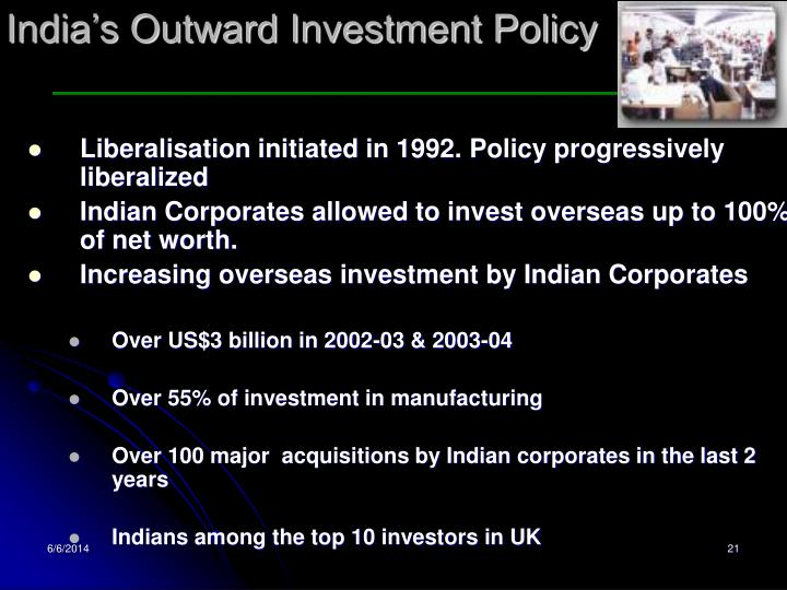 India's Outward Investment Policy