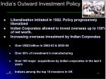india s outward investment policy