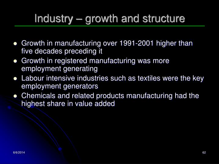 Industry – growth and structure