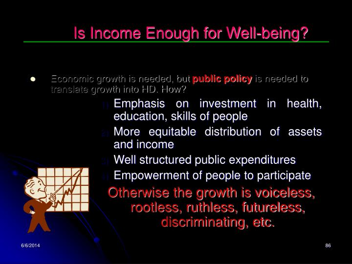 Is Income Enough for Well-being?