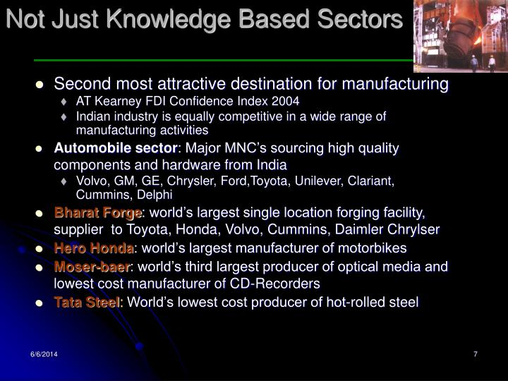 Not Just Knowledge Based Sectors