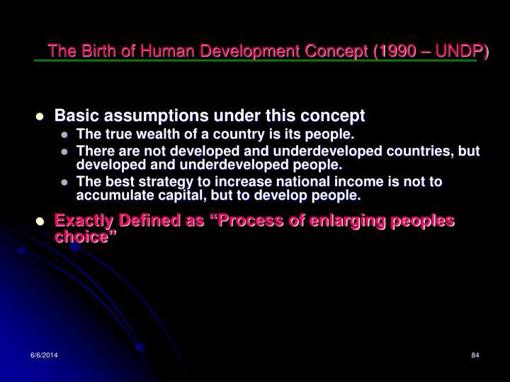 The Birth of Human Development Concept (1990 – UNDP)
