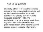 and uf is normal
