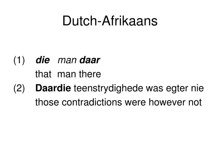 Dutch-Afrikaans