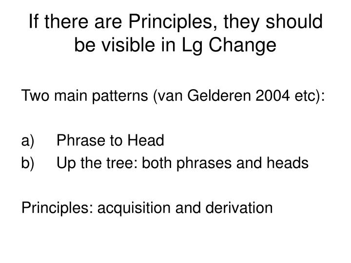 If there are Principles, they should be visible in Lg Change