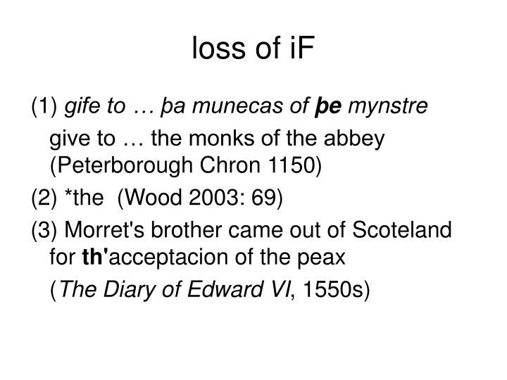 loss of iF