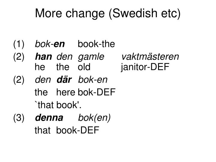 More change (