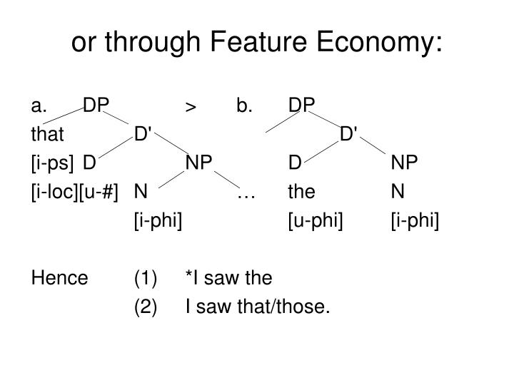or through Feature Economy: