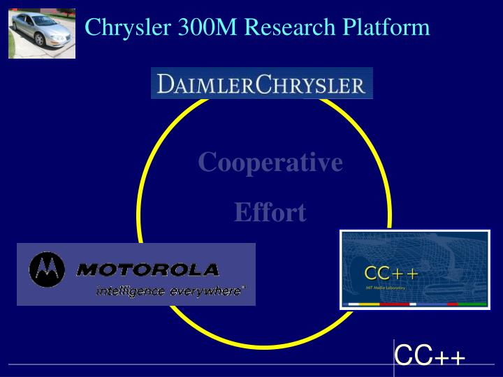 Chrysler 300M Research Platform