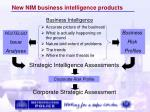 new nim business intelligence products