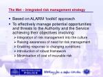 the met integrated risk management strategy