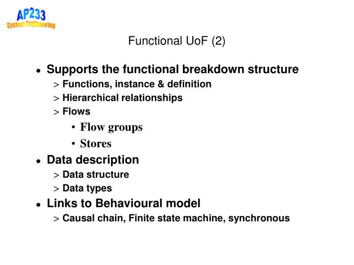 Functional UoF (2)