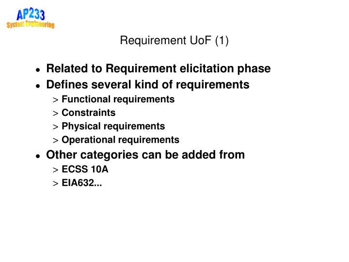 Requirement UoF (1)