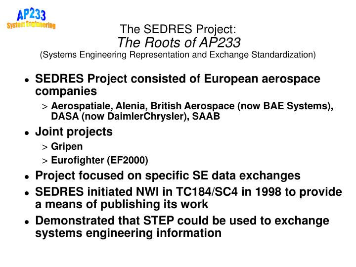The SEDRES Project: