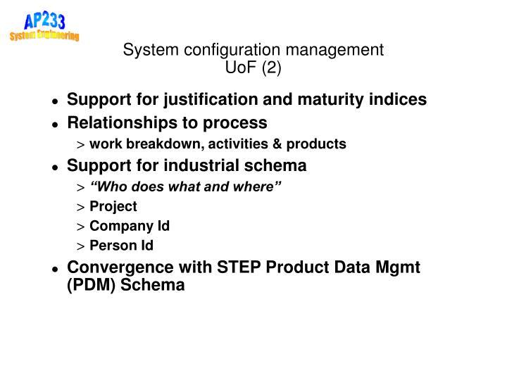 System configuration management