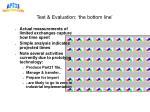 test evaluation the bottom line