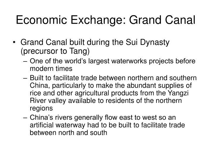 Economic Exchange: Grand Canal