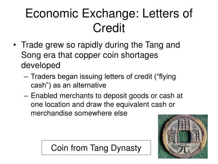 Economic Exchange: Letters of Credit