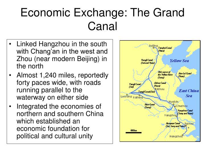 Economic Exchange: The Grand Canal