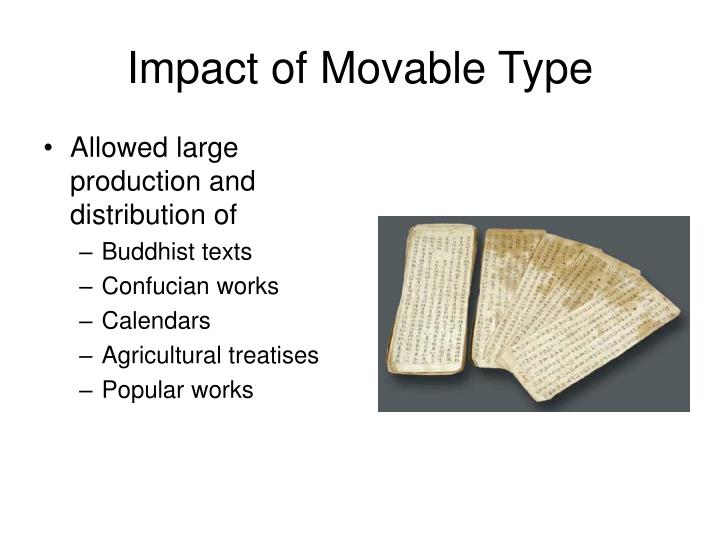 Impact of Movable Type