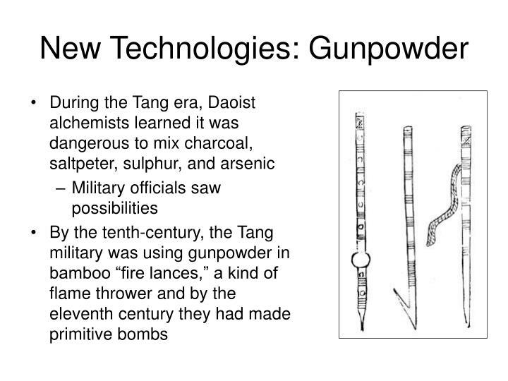 New Technologies: Gunpowder