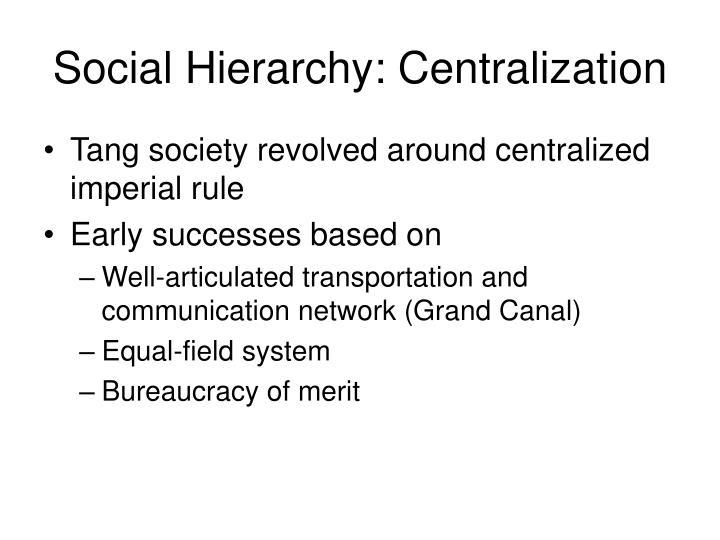 Social Hierarchy: Centralization