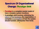spectrum of organizational change p aradigm shift