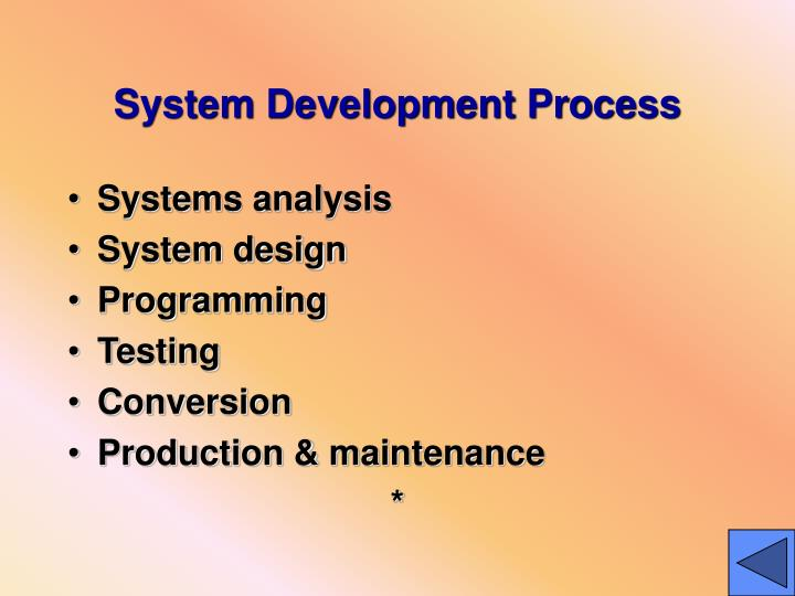 System Development Process