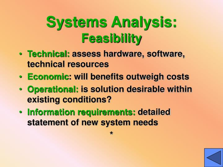 Systems Analysis: