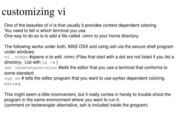 customizing vi