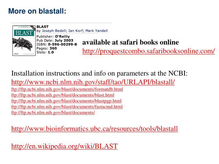 More on blastall: