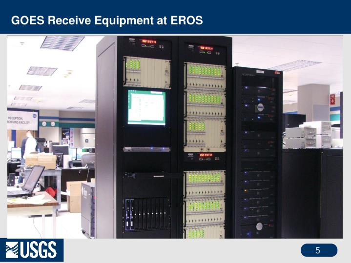 GOES Receive Equipment at EROS