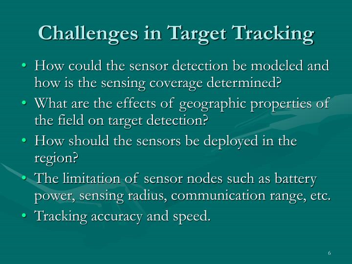 Challenges in Target Tracking