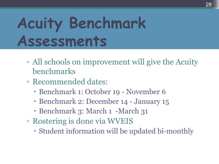 Acuity Benchmark Assessments