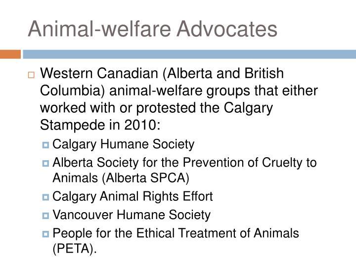 Animal-welfare Advocates