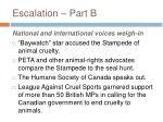 escalation part b