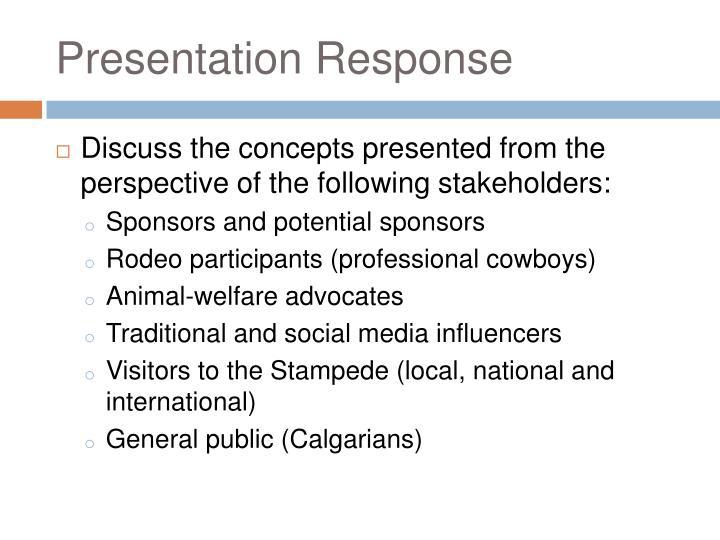 Presentation Response