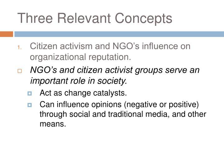 Three Relevant Concepts