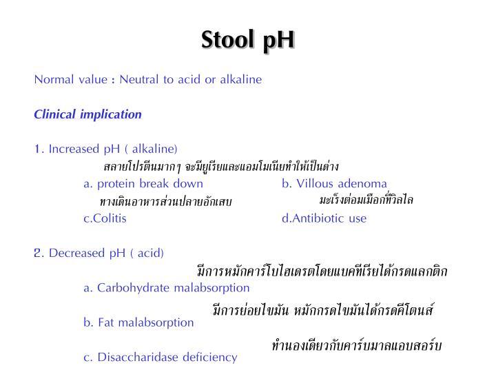 Stool pH