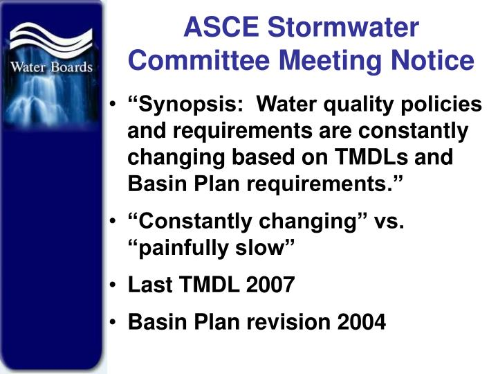 Asce stormwater committee meeting notice