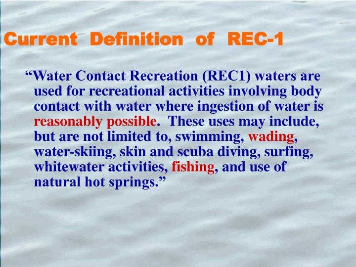 Current  Definition  of  REC-1
