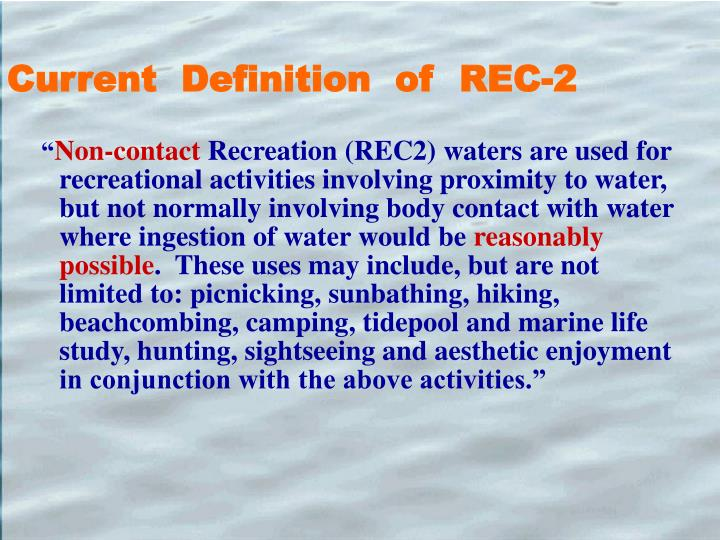 Current  Definition  of  REC-2