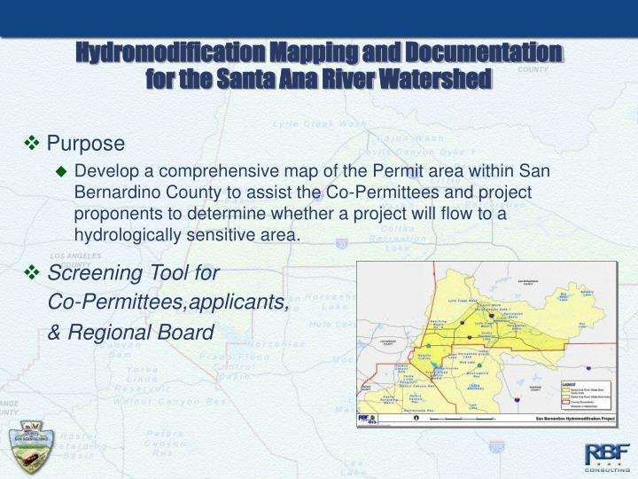 Hydromodification Mapping and Documentation