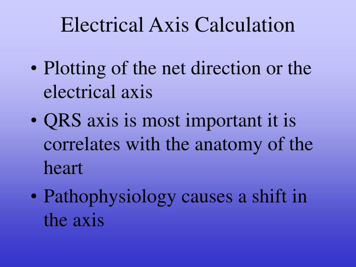 Electrical Axis Calculation