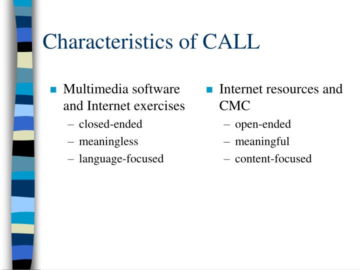 Multimedia software and Internet exercises