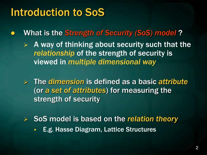 Introduction to sos